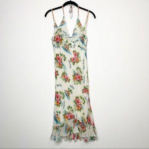 Vintage 90's White Hawaiian Print Slip Dress